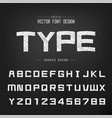 sketch cartoon font and alphabet chalk square vector image vector image