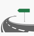 street direction sign road sign like an arrow vector image