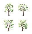 Stylized tree logo icon vector image vector image