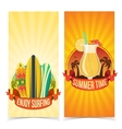 Surfing and partying banners vector image vector image