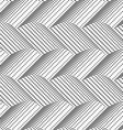 Textured with halftone squares horizontal chevron vector image vector image