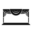 theater scene icon simple style vector image
