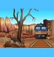 train ride through canyons vector image vector image