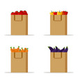 vegetables set organic vegetables in paper bag vector image vector image