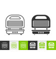 waffle iron simple black line icon vector image