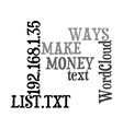 ways to make money from your list text word cloud vector image vector image