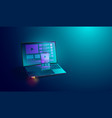 web development on smartphone and laptop screen vector image vector image