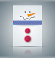 winter postcard a4 snowman vector image