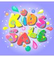 Kids sale banner vector image