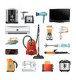 electronic household equipment isolated on white vector image