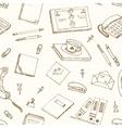 office tools doodles pen pencils book paper vector image
