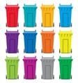 recycling wheelie bin icons vector image