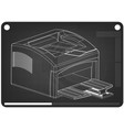 3d model of printer on a black vector image