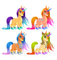 baby unicorns for luck protection and inspiration vector image