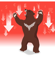 Bear market presents downtrend stock market vector image