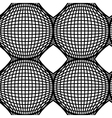 Black and White Op Art Design Seamless Pattern vector image vector image
