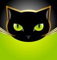 Black cat head vector image
