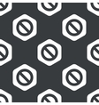Black hexagon NO sign pattern vector image vector image