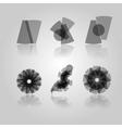 Black symbols vector image vector image