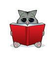 book reading cat vector image