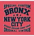 Bronx vintage stamp vector image