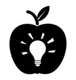 bulb apple icon simple black style vector image vector image