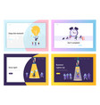 business idea deadline success website page vector image vector image