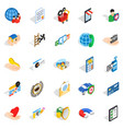 call center icons set isometric style vector image vector image
