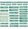 collection paper web buttons for your site vector image vector image
