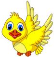 Cute Yellow bird cartoon posing