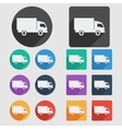 Delivery truck flat icons vector image vector image