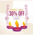 diwali festival sale and offer poster design vector image