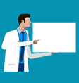 doctor giving advice character cartoon of vector image
