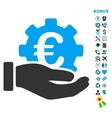 Euro Development Service Flat Icon with vector image vector image