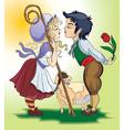farm romance vector image vector image