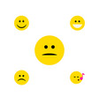 flat icon face set of joy descant grin and other vector image vector image