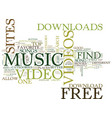 free music video downloads text background word vector image vector image