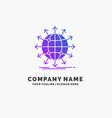 globe network arrow news worldwide purple vector image vector image