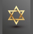 golden magen david star of vector image