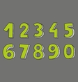 Green numbers isolated on grey background vector image vector image