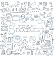 Hand drawn travel tourism doodles elements vector image vector image