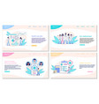 healthcare and medical web page templates vector image