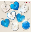 Heart labels set vector image vector image