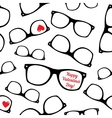 Hipster symbols Valentines Day background vector image vector image