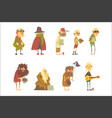 homeless men characters set unemployment and vector image vector image