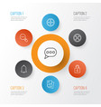 icons set collection of unlock positive vector image vector image