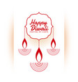 indian happy diwali festival white background vector image vector image