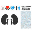 kidneys icon with 1300 medical business icons vector image