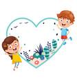 kids holding spring banner vector image vector image