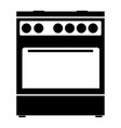 kitchen stove the black color icon vector image vector image
